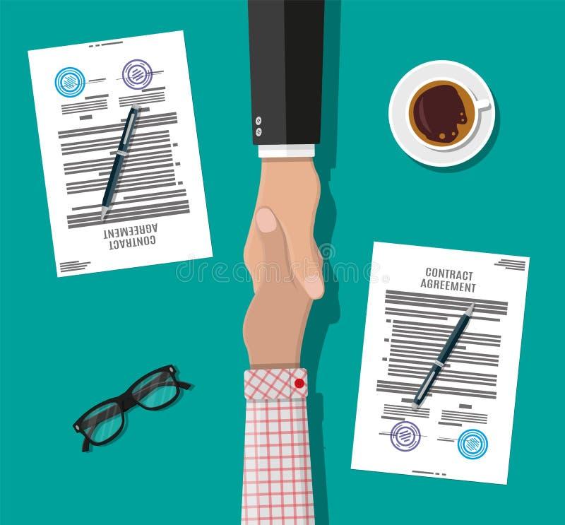 Δύο χέρια κουνημάτων επιχειρηματιών απεικόνιση αποθεμάτων