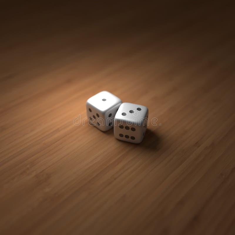 Δύο χωρίζουν σε τετράγωνα στο ξύλο με έναν ρόλο τεσσάρων στοκ εικόνες