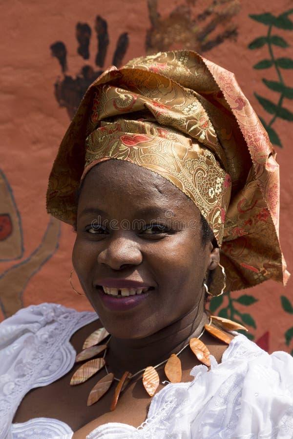 Δύση - αφρικανικό κορίτσι στοκ εικόνες