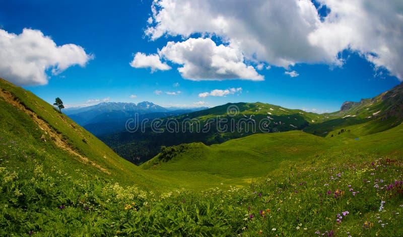 δύση οροπέδιων naki lago Καύκασο& στοκ φωτογραφίες