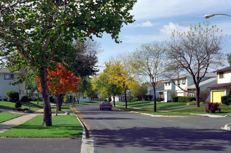 δύση προαστίου οδών του Σικάγου Ιλλινόις στοκ φωτογραφία με δικαίωμα ελεύθερης χρήσης