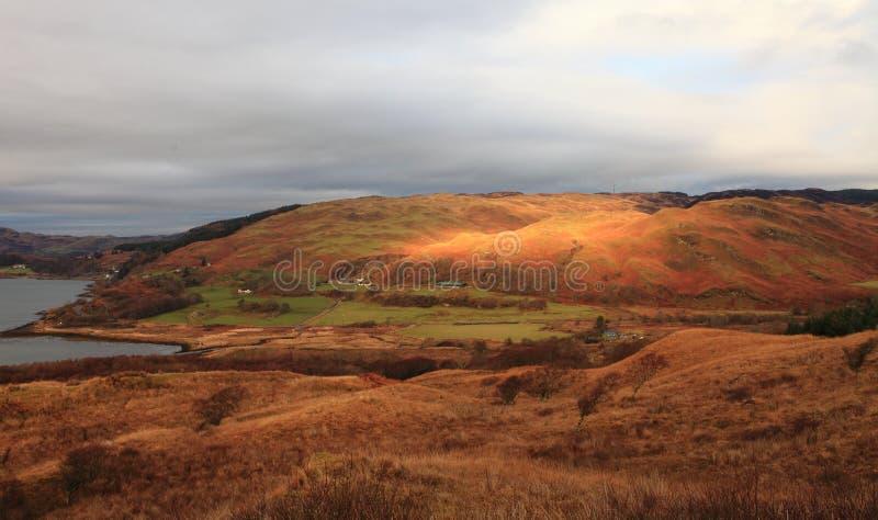 δύση της Σκωτίας ακτών στοκ εικόνα