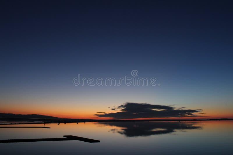 Δύση Kirby ηλιοβασιλέματος στοκ φωτογραφία
