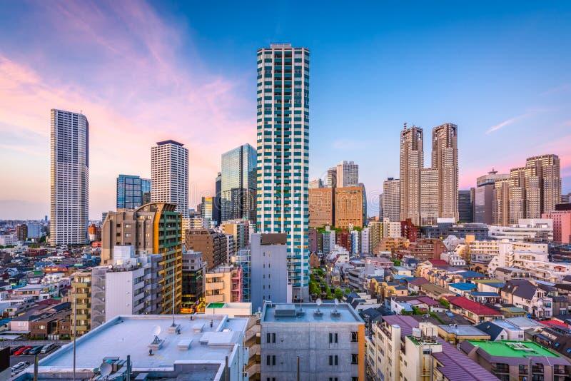 Δύση Shinjuku, εικονική παράσταση πόλης του Τόκιο στοκ εικόνες