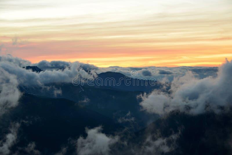 Δύση Tatras σύννεφων στοκ φωτογραφία