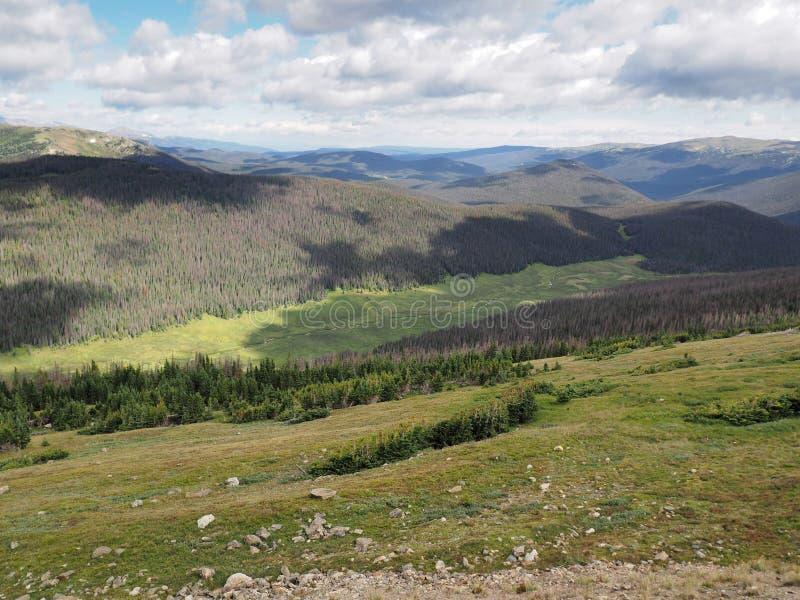 Δύσκολο εθνικό πάρκο βουνών στο Κολοράντο στοκ εικόνες