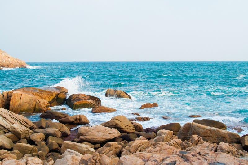 Δύσκολη παραλία στο Χονγκ Κονγκ shek-ο στοκ εικόνα