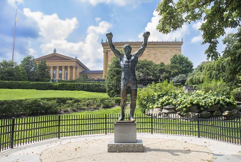 Δύσκολο BALBOA, άγαλμα Sylvester Stallone στοκ εικόνα με δικαίωμα ελεύθερης χρήσης