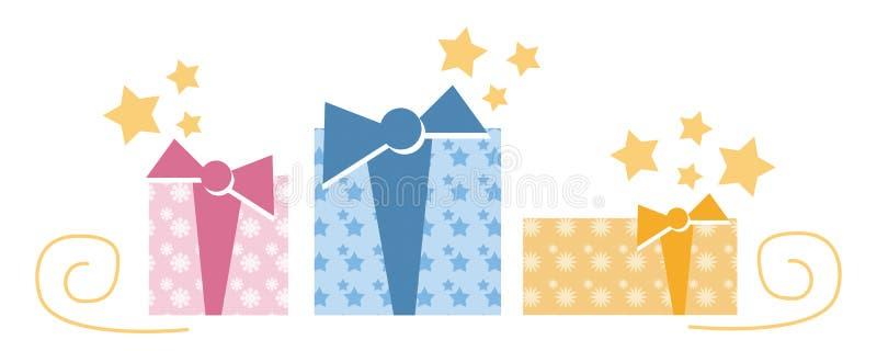 δώρα τρία απεικόνιση αποθεμάτων