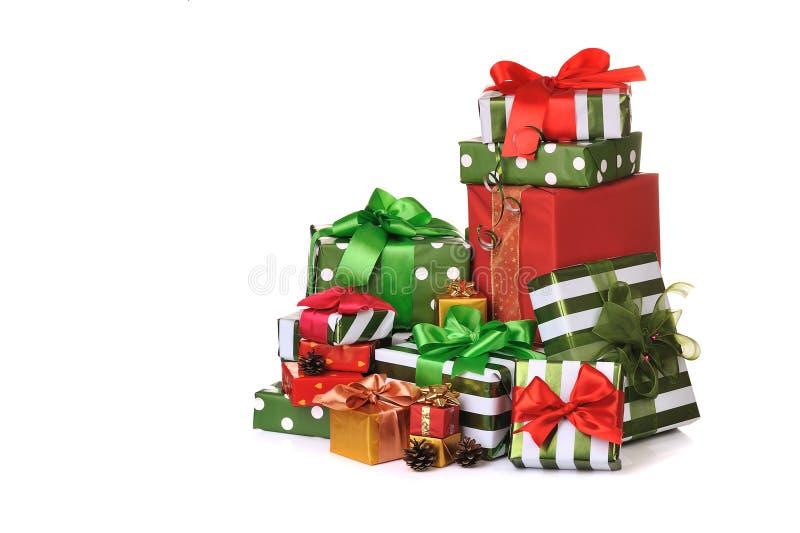 δώρα Χριστουγέννων κιβωτί&om στοκ εικόνες