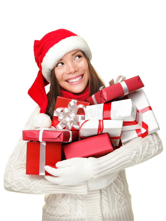 δώρα Χριστουγέννων που κρ στοκ εικόνες