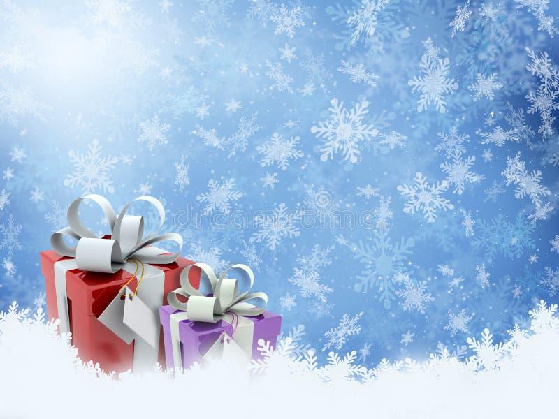 δώρα Χριστουγέννων διανυσματική απεικόνιση