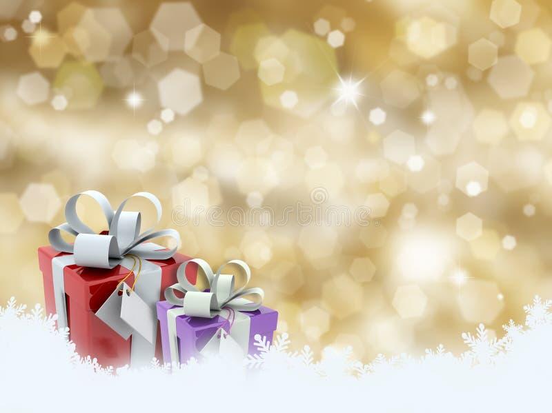 δώρα Χριστουγέννων απεικόνιση αποθεμάτων