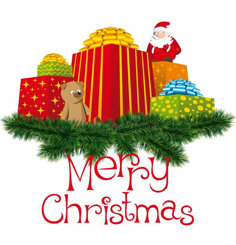 Download δώρα Χριστουγέννων διανυσματική απεικόνιση. εικονογραφία από ελαιόπρινος - 17054122