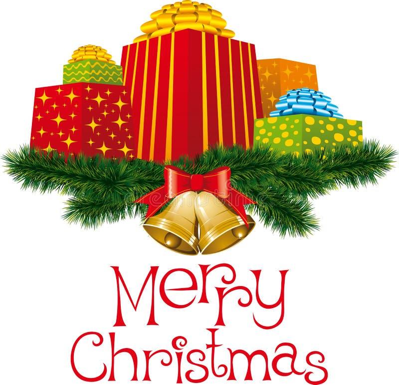 Download δώρα Χριστουγέννων διανυσματική απεικόνιση. εικονογραφία από χειροποίητος - 17054146