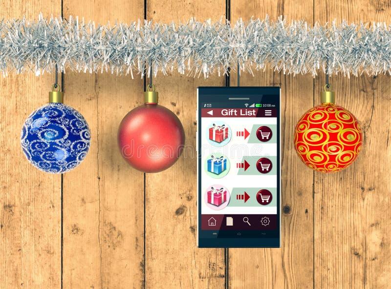 Δώρα on-line αγορών και Χριστουγέννων ελεύθερη απεικόνιση δικαιώματος