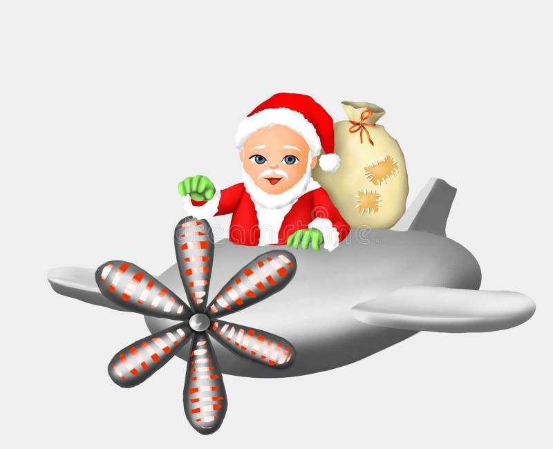 Δώρο Άγιου Βασίλη Άγιος Βασίλης και νέο έτος, Χριστούγεννα, ευχετήρια κάρτα, χαιρετισμός, κάρτα, χειμώνας, χειμερινή εποχή, χιόνι διανυσματική απεικόνιση