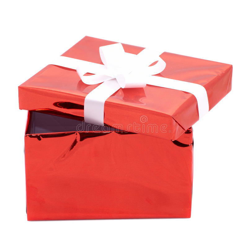 δώρο κιβωτίων ανοικτό στοκ εικόνες