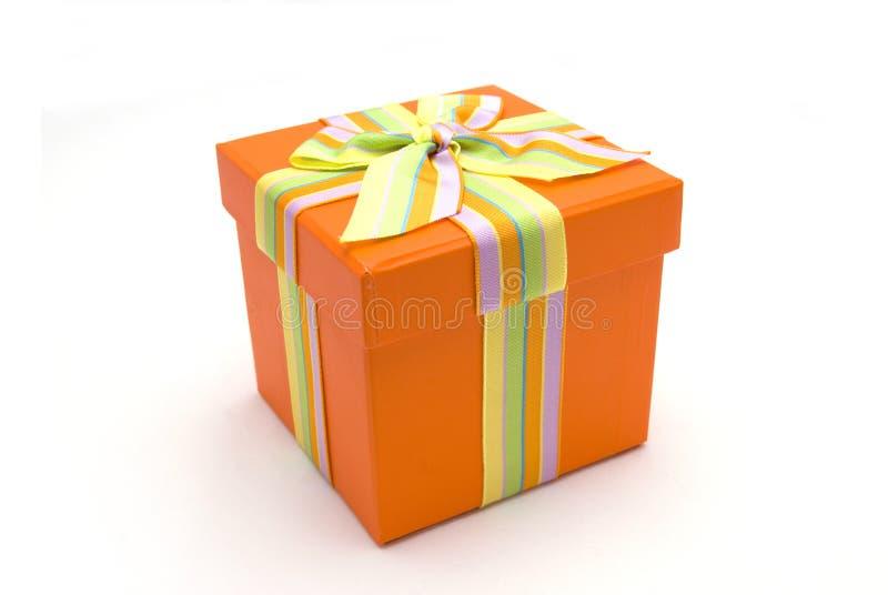 δώρο κιβωτίων ευτυχές στοκ εικόνα με δικαίωμα ελεύθερης χρήσης