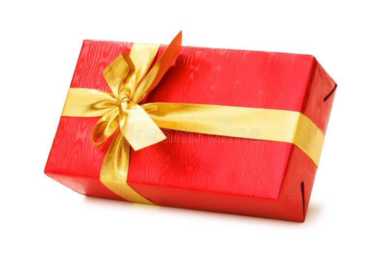 δώρο κιβωτίων που απομονώ&n στοκ φωτογραφία με δικαίωμα ελεύθερης χρήσης