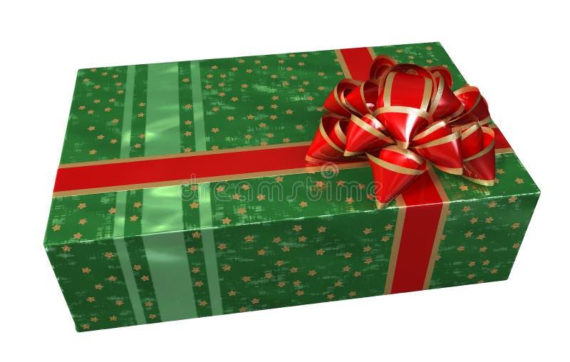 δώρο κιβωτίων πράσινο διανυσματική απεικόνιση
