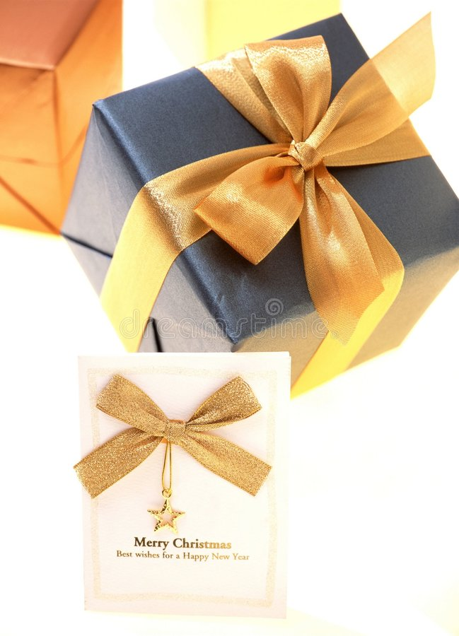 Download δώρο κιβωτίων στοκ εικόνα. εικόνα από κάρτα, δώρο, μπαρεττών - 108367