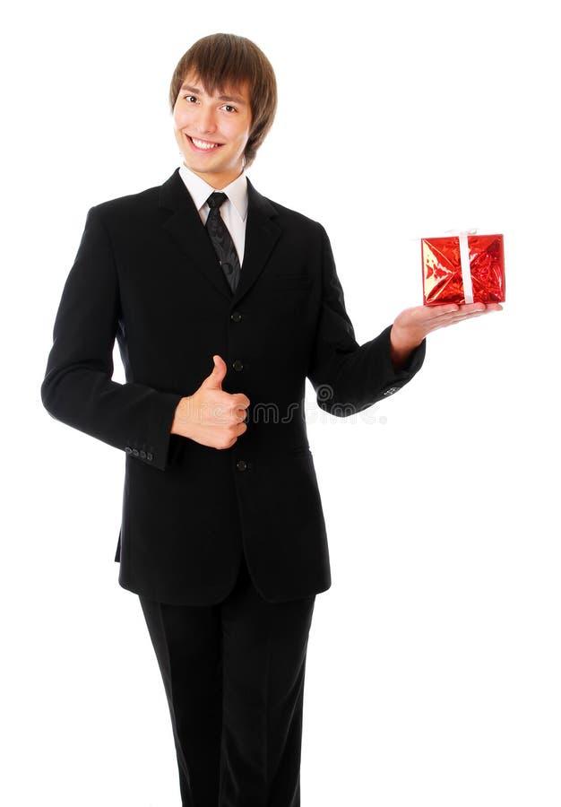 Download δώρο που συνεχίζει έφηβο& στοκ εικόνα. εικόνα από επιχειρηματίας - 17059765