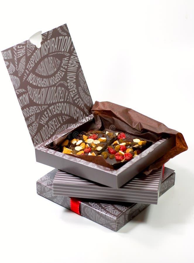 δώρο σοκολάτας κιβωτίων στοκ εικόνα