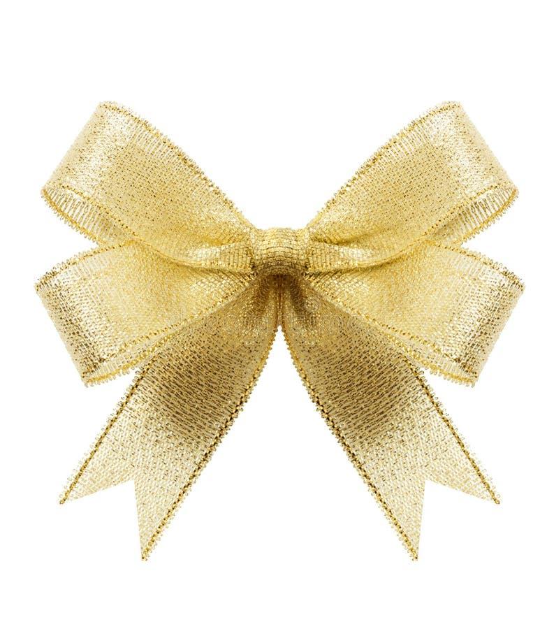δώρο τόξων χρυσό στοκ εικόνες
