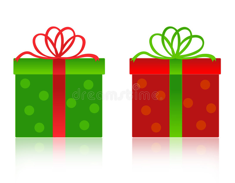 δώρο Χριστουγέννων κιβωτίων απεικόνιση αποθεμάτων
