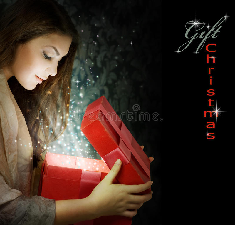 δώρο Χριστουγέννων στοκ φωτογραφία