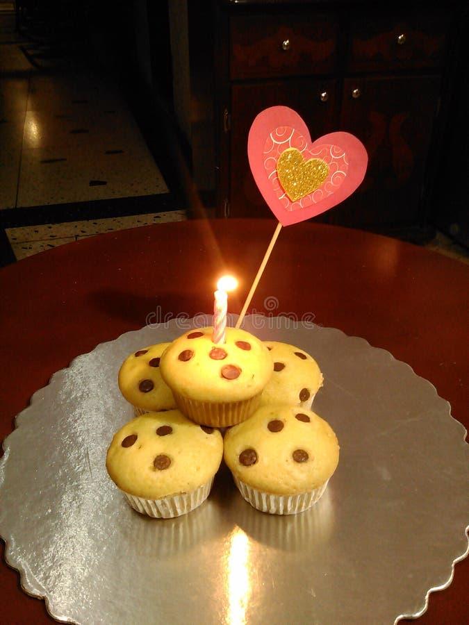 Δώρο Cupcake στοκ εικόνες