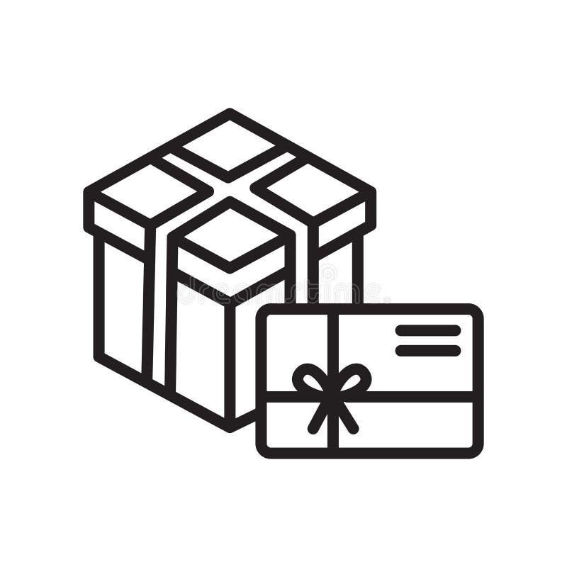 Δώρων σημάδι και σύμβολο εικονιδίων διανυσματικό που απομονώνονται στο άσπρο υπόβαθρο, έννοια λογότυπων δώρων απεικόνιση αποθεμάτων