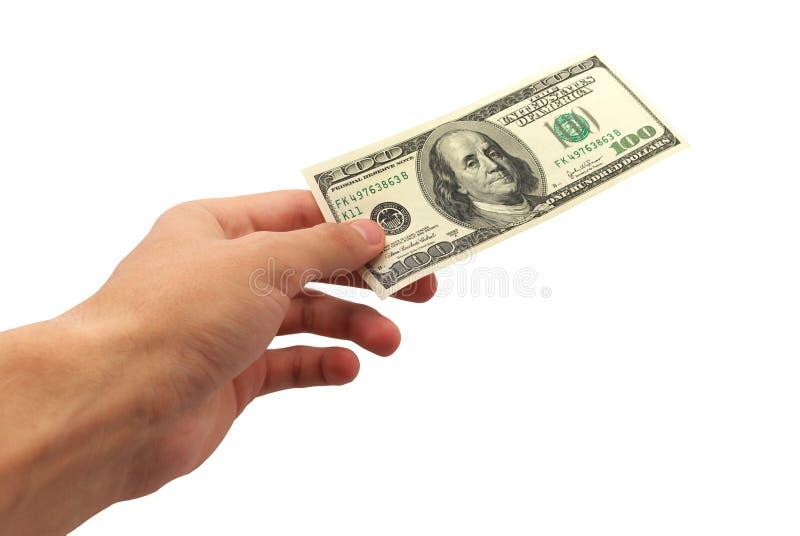 δώστε τα χρήματα στοκ εικόνες με δικαίωμα ελεύθερης χρήσης