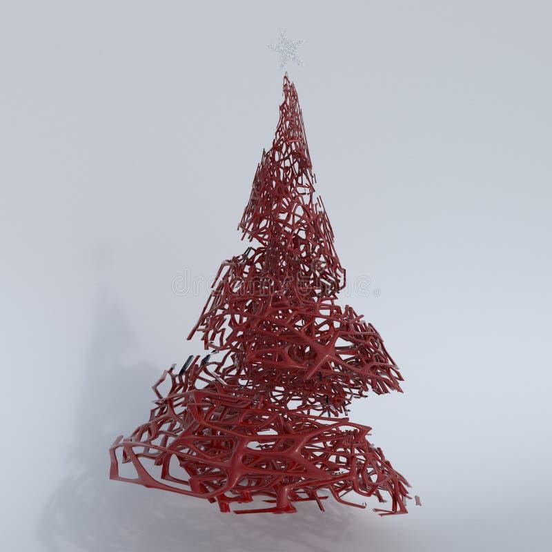 Δώστε του τρισδιάστατου χριστουγεννιάτικου δέντρου ελεύθερη απεικόνιση δικαιώματος