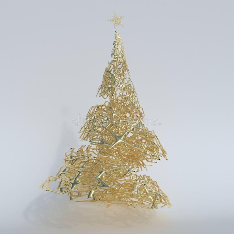Δώστε του τρισδιάστατου χριστουγεννιάτικου δέντρου διανυσματική απεικόνιση