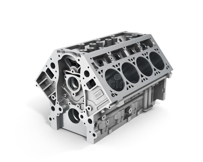 Δώστε του φραγμού κυλίνδρων από το ισχυρό αυτοκίνητο με V8 τη μηχανή ελεύθερη απεικόνιση δικαιώματος