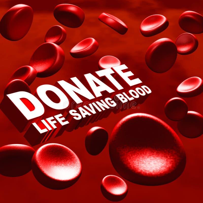 Δώστε το αίμα διανυσματική απεικόνιση