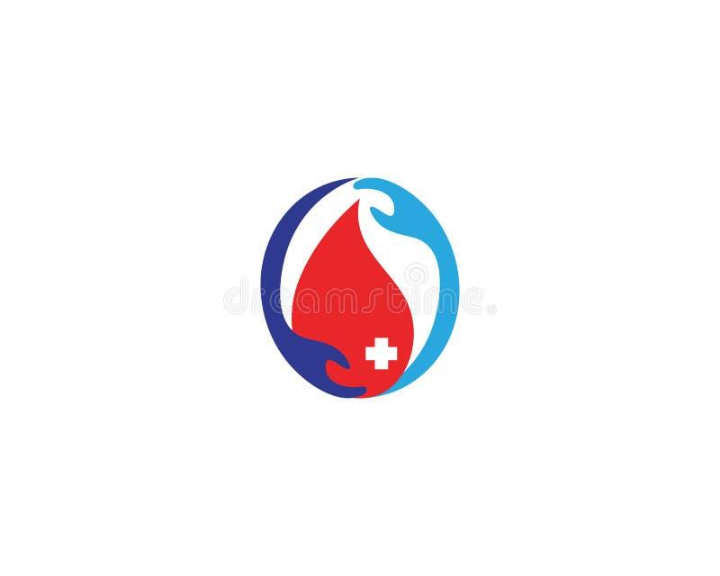 Δώστε το εικονίδιο αίματος με το ιατρικό σχέδιο διανυσματική απεικόνιση