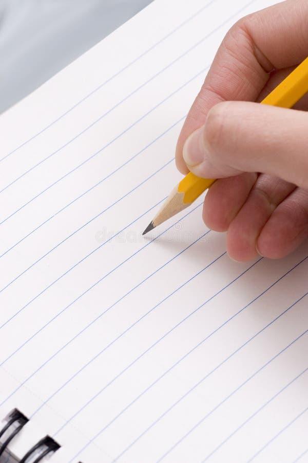 δώστε το μολύβι στοκ εικόνα με δικαίωμα ελεύθερης χρήσης