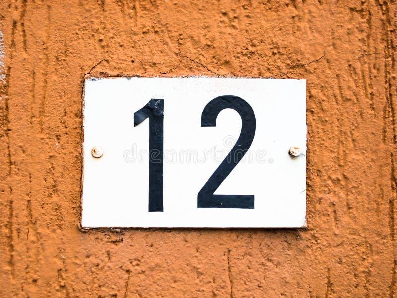 Δώδεκα 12 αριθμός στοκ φωτογραφία με δικαίωμα ελεύθερης χρήσης