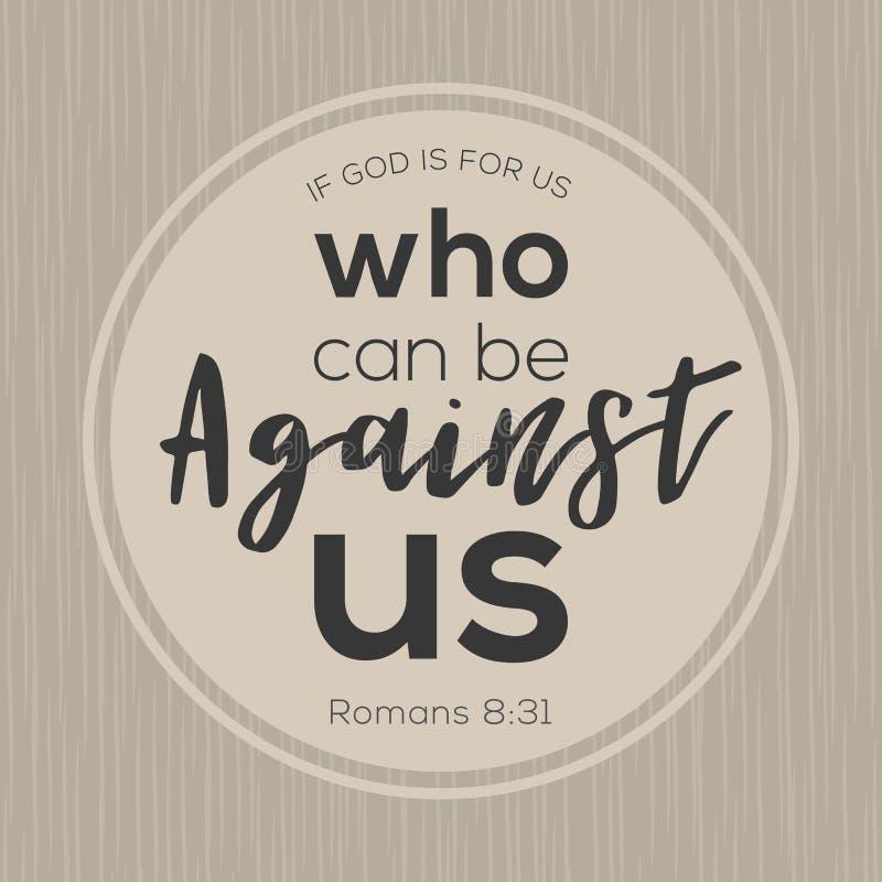 Εάν ο Θεός είναι για μας που μπορούν να είναι ενάντια σε μας από τη Βίβλο απεικόνιση αποθεμάτων