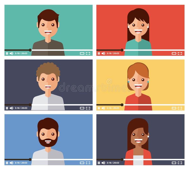 Είδωλο κοινοτικό τηλεοπτικό προερχόμενο από ιό ικανοποιημένο Διαδίκτυο διανυσματική απεικόνιση