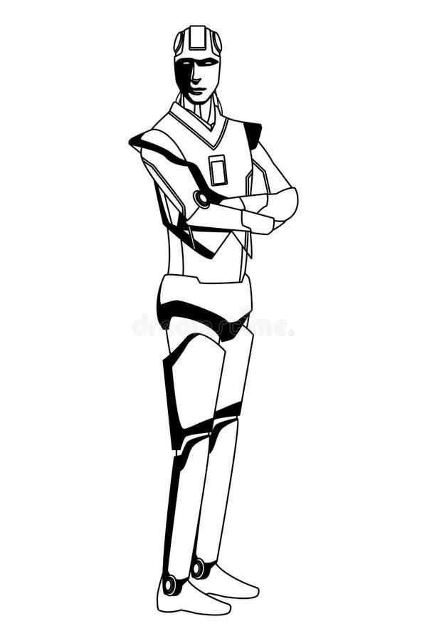 Είδωλο ρομπότ Humanoid γραπτό απεικόνιση αποθεμάτων
