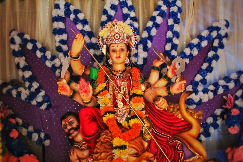 Είδωλο της θεάς Durga κατά τη διάρκεια Navratri στοκ φωτογραφίες με δικαίωμα ελεύθερης χρήσης