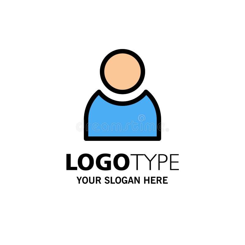 Είδωλο, χρήστης, βασικό πρότυπο επιχειρησιακών λογότυπων Επίπεδο χρώμα διανυσματική απεικόνιση