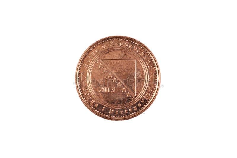 Είκοσι Fenings νόμισμα που απομονώνεται βοσνιακό στο λευκό στοκ φωτογραφίες με δικαίωμα ελεύθερης χρήσης