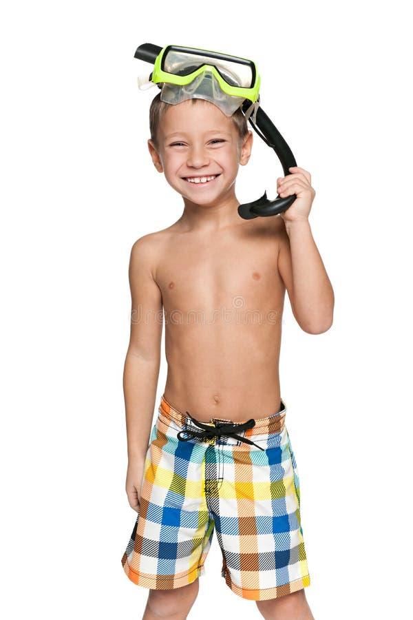 Είμαι έτοιμος για την κολύμβηση με αναπνευστήρα! στοκ εικόνα με δικαίωμα ελεύθερης χρήσης