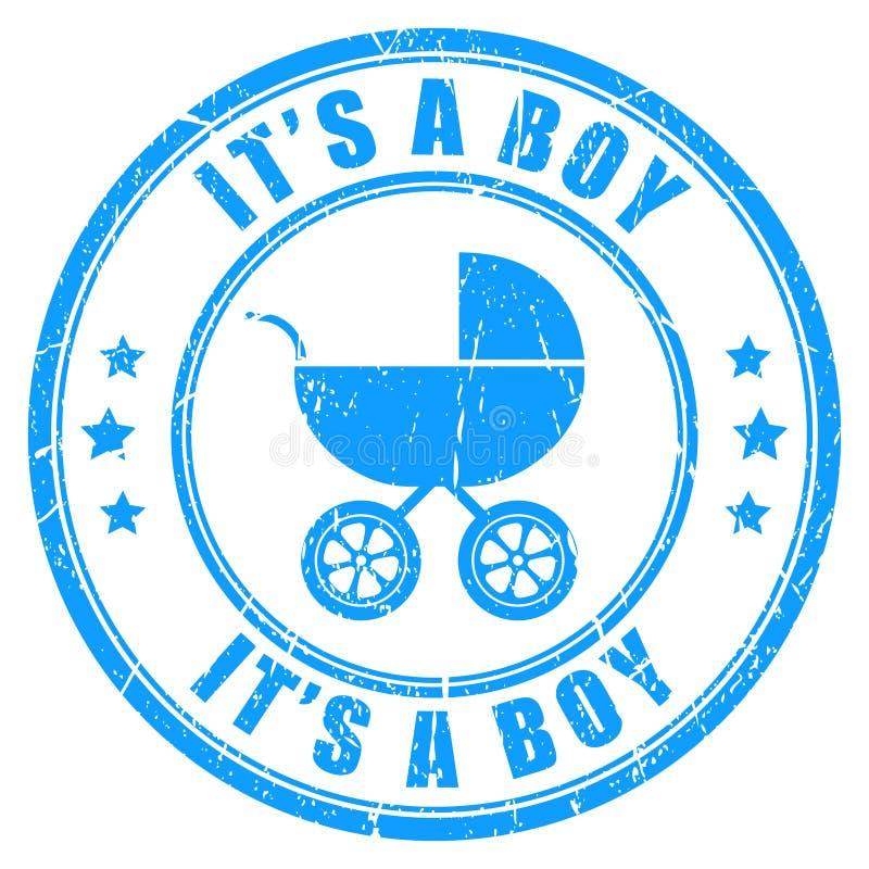 Είναι ένα διανυσματικό γραμματόσημο αγοριών ελεύθερη απεικόνιση δικαιώματος