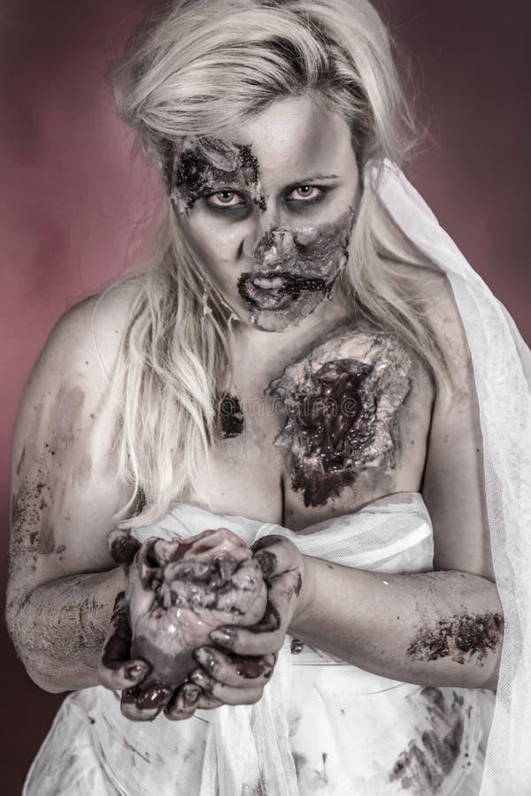 Νύφη Zombie στοκ εικόνα
